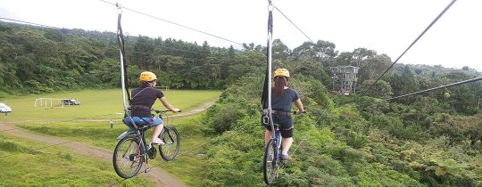 Skycycling in Eden Nature Park - Davao, Mindanao, Filipijnen