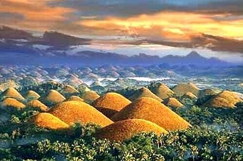 Chocolate Hills - Bohol, Central Visayas, Filipijnen