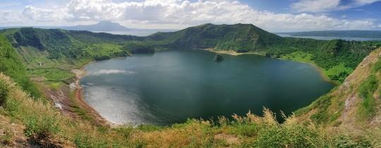 Kratermeer Taal Vulkaan, Batangas, Luzon, Filipijnen